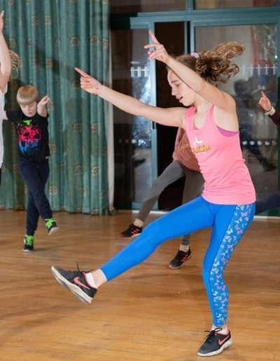 Children dancing to music