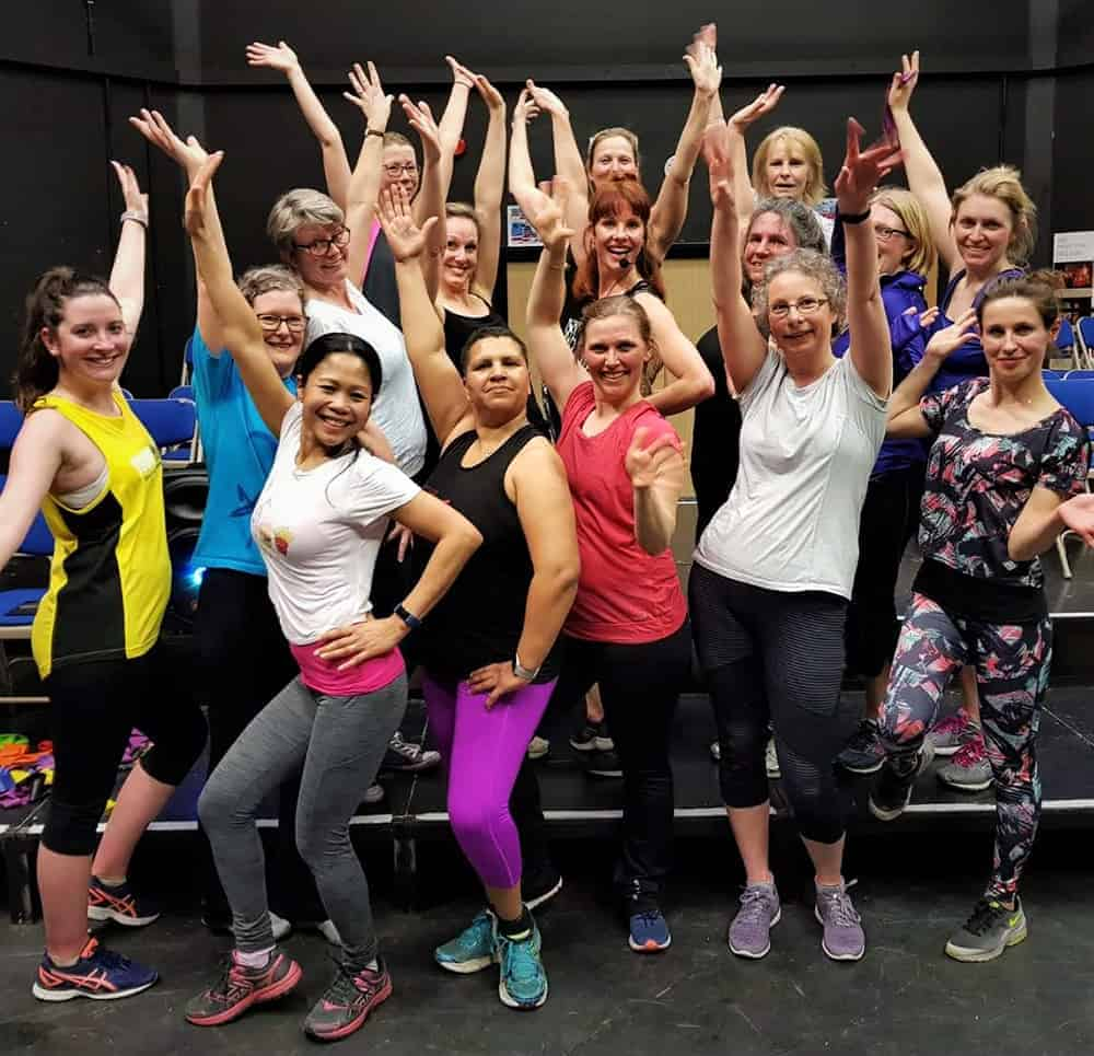 A group of ChiChi Fit ladies after class